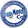 FORD MOTORE CO.invecchiato tondo in metallo insegna 300mm x 300mm (SF)