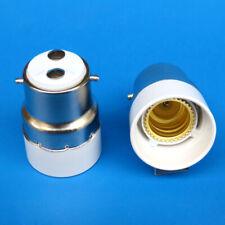 2 pcs B22 to E14 Lamp Light Bulb Socket Base Converter Bayonet Cap to Edison SES