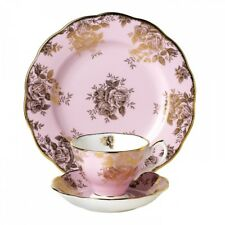 NEW 1960 Golden Roses TEA CUP, SAUCER, LUNCH PLATE 100 Years by Royal Albert