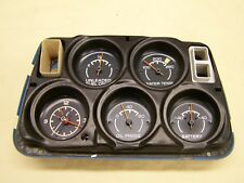 Corvette 1975-1976 Center Gauge Cluster w/ Clock, Good Condition
