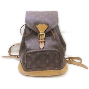 Louis Vuitton Back Pack Montsouris MM M51136 Browns Monogram 1414765
