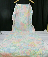 2 vintage West Point Pepperell Standard Pillowcases Pastel Floral Garden Water