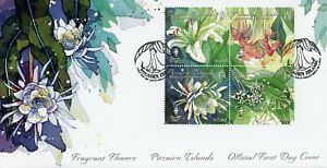 Pitcairn Islands 2019 FDC Fragrant Flowers Jasmine 4v M/S Cover Nature Stamps
