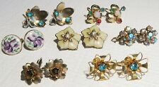 Vintage Earrings Lot of 6 sets including Calvaire Sterling Silver