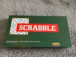 Vintage Scrabble - Spears Games with wooden Tile Holders