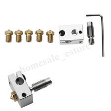 V6 PT100 Aluminum Heating Block Copper Nozzle Throat For 3D Printer Hotend