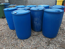 PLASTIC BARREL DRUM - 210 LITRE WATER BUTT / SHOWJUMP HAY DRUM *COLLECTION ONLY*