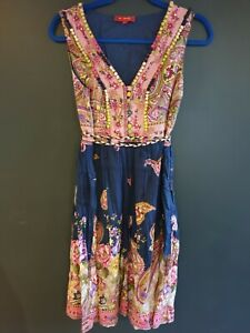 Rene Derhy Colourful Dress, Embroidered, Beading Medium