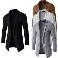 Men's Winter Long Sleeve Slim Knitted Cardigan Warm Sweater Jumper Jacket Coat