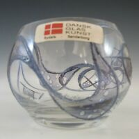 LABELLED Dansk Glaskunst Danish Glass Candle Votive / Bowl