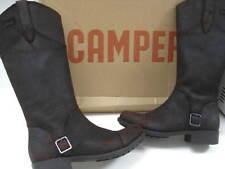 a95f29fc583 BNIB Ladies CAMPER brown leather knee high BOOTS UK 3 36 WAXY RAIZ riding