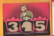 JOHN F KENNEDY JFK WORN RELIC SWATCH CARD 2007 TRIPLE THREADS 35TH PRESIDENT USA