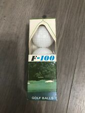 VINTAGE 1960s NEW OLD STOCK FAULTLESS F-100 GOLF BALLS, PACKAGE OF 3