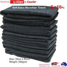 50Pc Salon Towel Microfiber Ultra Soft Towels Black 35cm x 85cm Bleach Proof