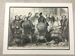 1855 Vienna Conference Lord John Russell  Original Victorian Antique Print