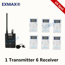 Wireless Fm Radio Broadcast Tour Guide System 60-108Mhz Dsp Stereo 1T6R Us Spot