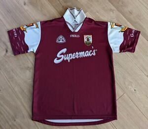 Vintage 1998 Gaillimh Galway Gaa O'Neills Home Jersey Shirt Gaelic Football Med