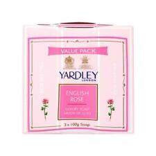 Yardley London English Rose, luxury Soap, 3 X Net 100g e 3.5oz. Pack of 3