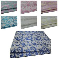 Faux Silk Brocade (Fern Feather) Jacquard Damask Kimono Fabric Material*Bn3
