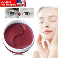 US 60Pcs Anti Wrinkles Dark Circle Gel Collagen Under Eye Pad Mask Eye Patch Bag