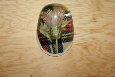 Vintage Scottish Thistle Encased in Lucite Paperweight