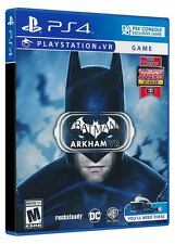 Batman Arkham VR PS4 PSVR BRAND NEW SEALED