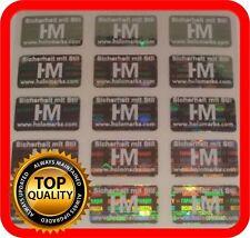 Ihr Logo und Text auf 600 Hologramm Etiketten Garantie Siegel Aufkleber 21x12mm