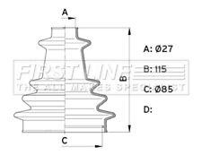 First Line Driveshaft Bellow CV Joint Boot Kit FCB1003 - 5 YEAR WARRANTY