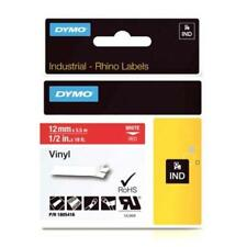 1805416 Dymo 12mm Vinyl Label Tape (White On Red) for Dymo RhinoPRO 1000, 3000