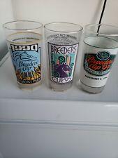 Vintage Breeder's Cup Glasses Lot Of 3