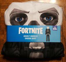 NEW Fortnite Union Suit Costume Skull Trooper Unisex Adult 2XL