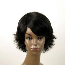 perruque afro femme 100% cheveux naturel courte noir ref SHARONA 05/1b