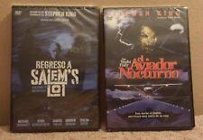 Pack 2 Dvd Stephen King; Regreso a Salem's Lot+El aviador nocturno