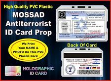 MOSSAD Antiterrorism ID Card / Badge Prop - Israel ID CUSTOM W YOUR PHOTO / NAME