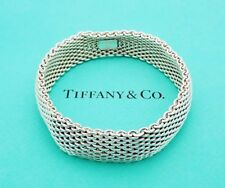 "Tiffany & Co. 7-3/4"" Somerset Bangle Bracelet in Sterling Silver"
