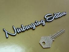 """Nurburgring Edition script style adhésif voiture moto badge 5.5 """"custom AUDI"""