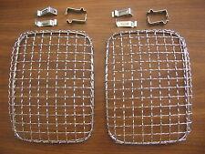 Fog Light Protectors Chrome Steel Wire Mesh Rectangular Headlight Stone Gaurds