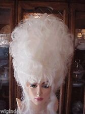 EMPRESS BIANCA BIG WIG DRAG QUEEN LONG FLUFFY WAVY WHITE POOF VOLUME TEASED HIGH