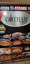 NEW Gotham Steel 12 Piece Nonstick Ceramic Pots and Pans Cookware Complete Set