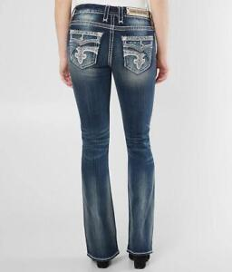 Rock Revival Womens Glade Easy Stretch Boot Cut Bling Jeans 29 30 31 32 33 34 36
