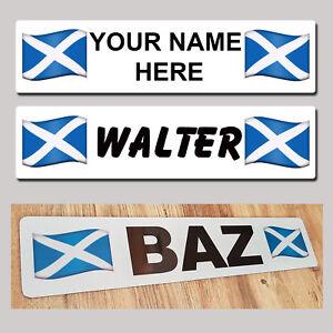 Scotland Saltire Flag Lorry Truck Trucker CAB SHOW PLATE Name Sign Custom
