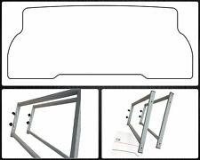 Konsolen Multiflexboard Set  mit Zuschnittvorlage für VW T5 T6 Rastschiene GRAU