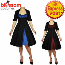 Knee Length Retro Dresses for Women with Buttons