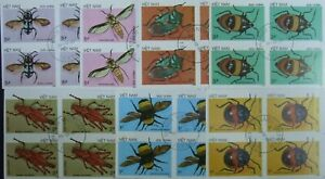 Vietnam 1988-,Insects,Bugs, 8 St.In block,Imperf.MNH, VO 15a