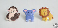 12 Wild Animal Cup Cake Rings Topper Kid Safari Zoo Party Goody Bag Favor Supply