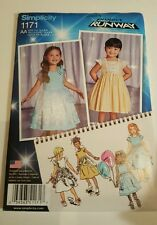 Simplicity 1171 Pattern Child's Dress Bodice Skirt w/Trim Variations 4-8 Project