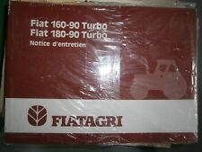 Fiat tracteur 160 -90 Turbo - 180 -90 Turbo : notice d'utilisation
