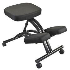 Ergonomic kneeling chair stool or office chair in black w metal frame adjustable
