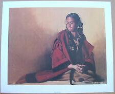 Penni Anne Cross Red Capote ELA-SOAXE-HISSHE Indian Woman Fine Art Lt Ed Print