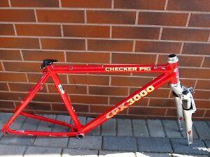 MTB frame 19' Checker Pig CPX 3000 aluminium 7005 Marzocchi 700 Shimano Deore XT